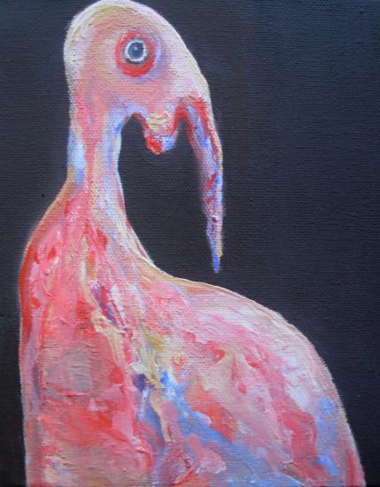 oiseau 2 Vautognard -acrylique 20/20