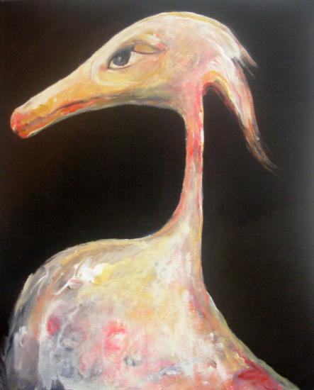 Oiseau1 Ruppertopoulos - Acrylic on canvas 37,5/46