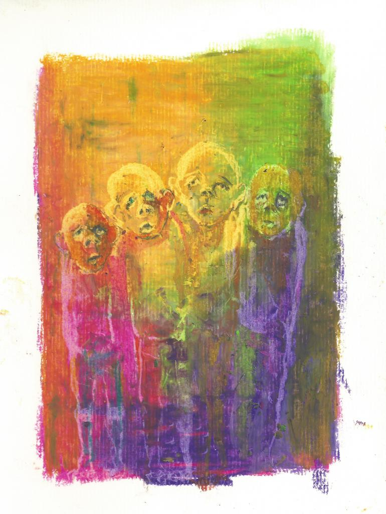 Group 007 . crayon on paper